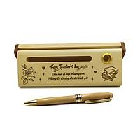Bút gỗ bi xoay làm quà tặng ngày 20/11 (Kèm hộp đựng sang trọng)