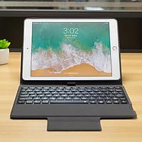 Bao da kiêm Bàn phím Bluetooth đèn LED 7 màu cho iPad Mini 5