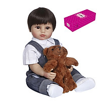 Decdeal Reborn Dolls 22 inch Silicone Full Body Realistic Lifelike Baby Real Touch Weighted Toddler Doll with Animal