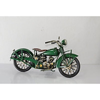 Mô hình xe mô tô, xe máy cổ độc lạ trưng bày/ Vintage metal Motorcycle handmade Decoration (1904E-7857)