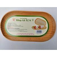Khay Gỗ Hình Oval TL74 24 Cm Dùng Để Trưng Bày, Đựng Thức Ăn Bánh Kẹo - Đồ Gỗ Nhà Bếp Thương Hiệu Trường Sơn