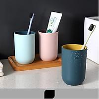 Cốc uống nước, cốc đánh răng nhựa PP cao cấp 2 lớp an toàn dung tích 350ml - giao màu ngẫu nhiên