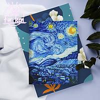 Giấy bọc sách vở giấy bao tập Van Gogh - The Starry Night