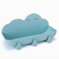 Kệ Nhựa Đựng Đồ Treo Tường Đa Năng Nhà Vệ Sinh, Nhà Tắm Hình Đám Mây - Giao màu ngẫu nhiên