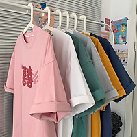 6 Color【M-3XL】Summer New Style Fashion Chinese style Printed Graphic Short Sleeve T-shirt Men Breathable Unisex Half Sleeve T-shirt Oversize Student Short T-shirt Couple Wear