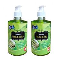 Combo 2 chai nước rửa tay Hand Soap 500ml Hương Xả Chanh
