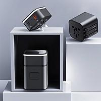 Bộ sạc du lịch toàn cầu sạc nhanh đa năng Baseus Removable 2in1 universal travel adapter PPS( Phiên bản đặc biết)-Đen -Hàng nhập khẩu