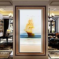 Tranh đơn canvas treo tường Decor Thuyền buồm trên biển - DC202