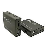 Bộ kéo dài HDMI 200M  qua Cáp mạng có USB ( Có tính năng thông LAN) Ho-Link HL-HDMI-200KVM (2 thiết bị ) - Hàng chính hãng