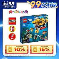 Đồ Chơi Lắp Ráp Tàu Ngầm Thám Hiểm Đại Dương LEGO CITY 60264 (286 Chi Tiết)