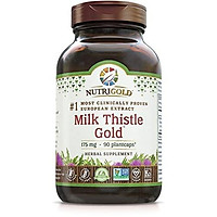 Nutrigold Organic Milk Thistle Extract - Milk Thistle Gold, 90 Capsules (#1 Pharmaceutical Grade Liver Support Supplement for Liver Detox & Cleanse)