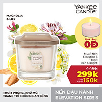 Nến ly vuông Elevation Yankee Candle size S - Magnolia & Lily (96g)