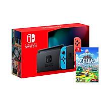 Máy Chơi Game Nintendo Switch Với Neon Blue Kèm Zelda Link's Awakening-MODEL 2019-HÀNG NHẬP KHẨU