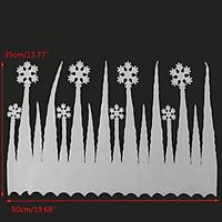 2pcs White Snowflake Ice Strip Christmas  Window Decoration Ornament Party