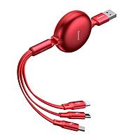 Cáp sạc dây rút 3 In 1 (Lightning + Micro USB + Type-C) Baseus Little Octopus 3.5A (1.5m)- Hàng chính hãng