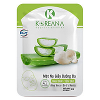 MẶT NẠ GIẤY DƯỠNG DA NHA ĐAM - YẾN SÀO- KOREANA - Gói 30g