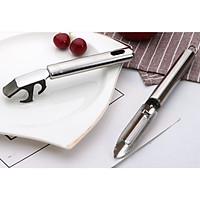 Bộ 2 dụng cụ: Dao cắt gọt bào trái cây hoa quả rau củ lưỡi dọc và Kẹp chống bỏng [Tặng móc dán tường treo đồ]