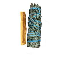 Combo 1 bó tuyết tùng 10cm và 1 thanh palo santo trắc xanh 10cm 5gr (Combo05)