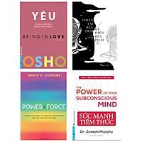 Combo 4 cuốn: Osho Yêu + Power vs Force + Thiên Tài Bên Trái, Kẻ Điên Bên Phải + Sức Mạnh Tiềm Thức ( Bộ sách hay giúp khám phá con người bên trong bạn)