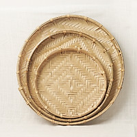 Mẹt tre làm thủ công tại các làng nghề truyền thống, 20-60cm (ẩm thực cổ truyền)