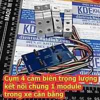 Cụm 4 cảm biến trọng lượng kết nối chung 1 module trong xe cân bằng kde6693