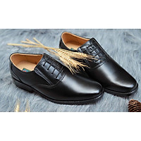 Giày Da Trung Niên, Giày Tây Nam Cao Cấp, Tặng Kèm 2 Đôi Tất Xanh