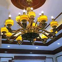 Đèn chùm  đồng nguyên chất 15 bóng 1340