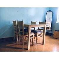 Bộ Bàn Ăn 4 Ghế Cabin Gỗ Xuất Khẩu Màu Tự Nhiên