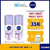 Combo 2 Lăn Serum Ngăn Mùi NIVEA Trắng Mịn Hương Hoa Lily (40ml) - 85310