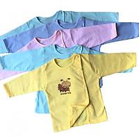 Combo 5 áo sơ sinh THT - Mẫu tay dài màu cài lêch