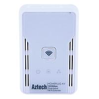 Aztech HL117EW - Bộ Truyền Mạng Qua Đường Dây Điện Tốc Độ 500Mbps Hỗ Trợ Wifi - Hàng Chính Hãng