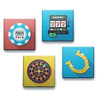 Bộ 4 Lót Ly Vuông Mika - Casino 1