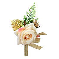 Artificial Rose Flower Wedding Corsage Boutonniere for Bridal Groom