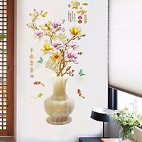 Decal dán tường bình hoa mai - HP46
