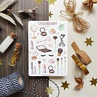 Sticker Sheet - Beauty - Chuyên dán sổ   Bullet Journal Stickers, Make Up Stickers, Self Care Stickers, Beauty Sticker