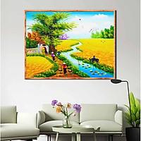 Tranh canvas treo tường làng quê Việt Nam - QVN015