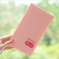 Ví đựng lomo card màu hồng hình mặt cười