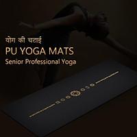 Thảm Tập Yoga 183*68CM Gel Yoga 6ft Cao Su PU Thảm Tập Thể Thao Và Thảm Tập Thể Dục Dày Pilates kèm Vị Trí Đường
