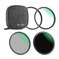 K&F CONCEPT 3pcs Ultra Clear Magnetic Filters(UV Filter + CPL Filter + ND1000 Filter) Waterproof Scratch-Resistant with