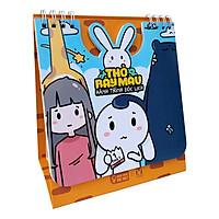 Lịch Để Bàn HooHoo HaHa A-VP29401 - Thỏ Bảy Màu 2020