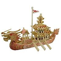 Mô hình lắp ghép 3D bằng gỗ Dragon King - Thuyền rồng