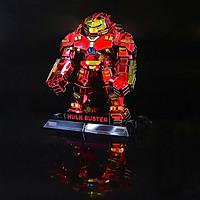 Mô hình thép 3D tự ráp Hulk Buster bản màu