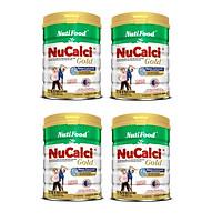 Bộ 4 Lon Sữa Nucalci Gold bổ sung canxi cho người từ 51 tuổi trở lên - 800g