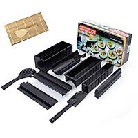 Bộ khuôn làm sushi+ Tặng kèm dụng cụ làm sushi bằng gỗ- Bộ khuôn làm sushi kimbap, cơm cuộn, trứng cuộn