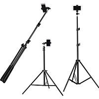 Bộ livestream, chân tripod tự sướng, quay titok dùng cho điện thoại và máy ảnh có remote bluetooth, đầu kẹp xoay 360 độ