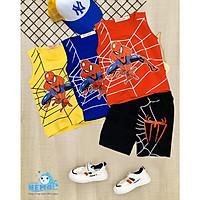 GIÁ TẬN XƯỞNG COMBO 3 bộ quần áo cho trẻ em có 3 màu khác nhau in hình Spider-Man người nhện cho bé trai từ 8kg đến 25kg