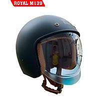 Mũ Bảo Hiểm Royal M139 Đen Nhám Kính Âm