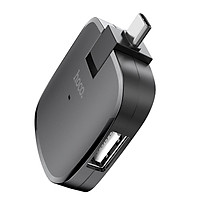 Bộ Chuyển Đổi  Type-C HB11 Sang 3 Cổng  USB 2.0 + Tặng Kèm Ghế Đỡ Điện Thoại Đa Năng T2 - Hàng Chính Hãng