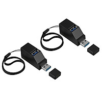 2pcs USB3.0 to USB 3.0 / 2.0 Hub Charging Adapter Splitter Connector Ports