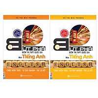 Combo 2 bộ sách Bứt Phá Điểm Thi THPT Quốc gia Tiếng anh 1 + Tiếng Anh 2( Tặng kèm 1 giá đỡ iring)